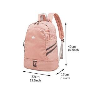 Image 2 - 独立した靴のバックパック服パッキングキューブトラベルオーガナイザーバッグ防水大容量学生バッグスクールポーチアクセサリー