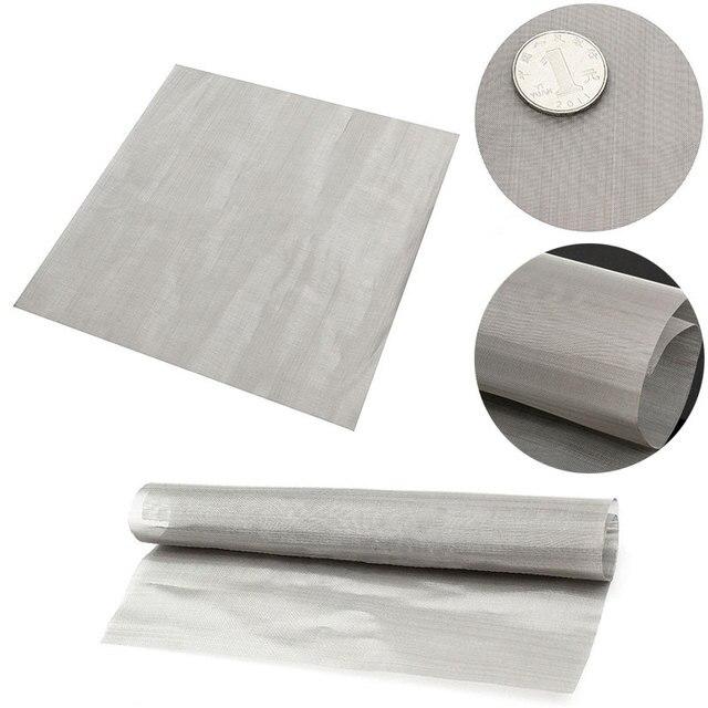 """100 Mesh filtracja drut tkany stal materiał stalowy ekran filtr wody arkusz 11.8 """"do filtrowania oleju miód Mayitr narzędzia do domu"""