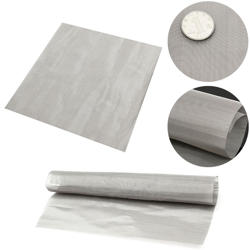 """100 Mesh Filtration Woven Wire Stainless Steel Cloth Screen Water Filter Sheet 11.8"""" For Filtering Oil Honey Mayitr Home Tools"""