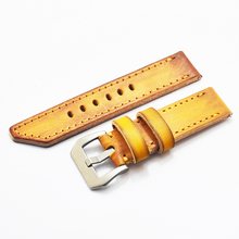 Onthelevel 22mm 24mm 26mm Handmade Watch Strap High Quality Calfskin Leather Band Fashion Design Wrist Wristband #A