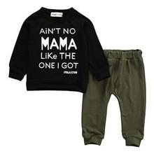 Autumn Children Clothing Set 2PCS Kids Baby Toddler Boy Clothes Set Mama Letter Cotton T-shirt Tops+Pants Leggings Outfits