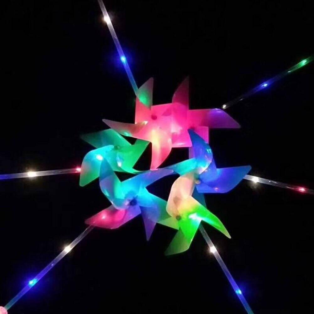 Электронные ветряные мельницы Детские ветряные мельницы цветок ветряная мельница пластиковые полихроматические DIY Игрушки Начинающих способность ручные игрушки