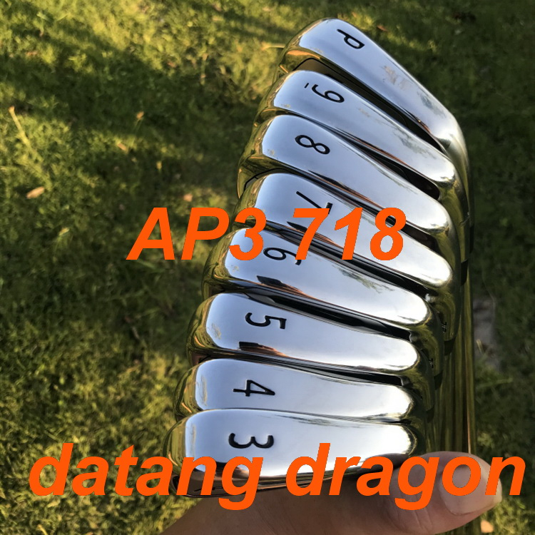 datang dragon golf irons AP3 718 irons forged set ( 3 4 5 6 7 8 9 P ) with dynamic gold S300 steel shaft golf clubs title=