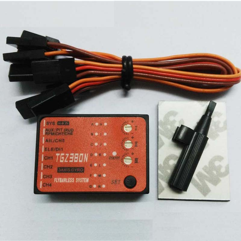 Flybarless System 3 Axis Gyro for Trex Align 450 700 RC Helicopter 6ch 3d