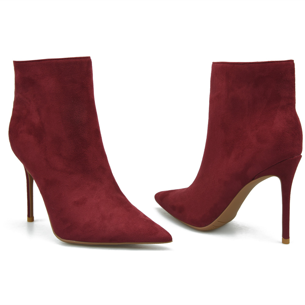 Mince Boot Red Heels Stylesowner Look Heels Heels Vente Creux Femme Couleur Bottes Top Rouge Pointu wine 8cm De out Cheville 10cm orange Bout 2018 Talons Wine Solide Orange Luxe 11fHqarw