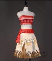 Moana cos Dress Cosplay Costume Halloween Costume for women
