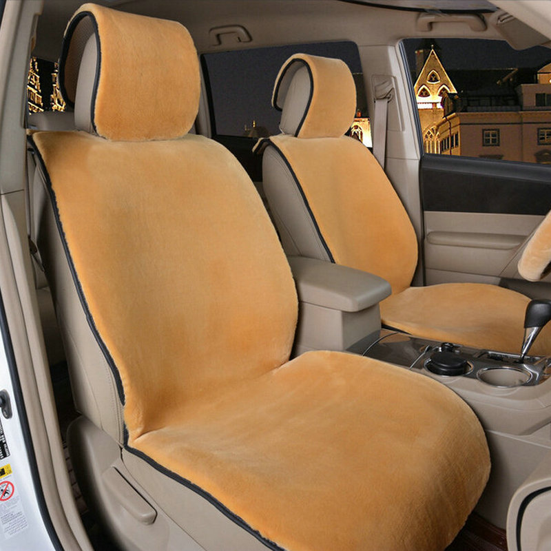 One Front Car Seat Covers Soft Faux Fur Interior Accessories Cushion Styling Winter Warm Plush Pad
