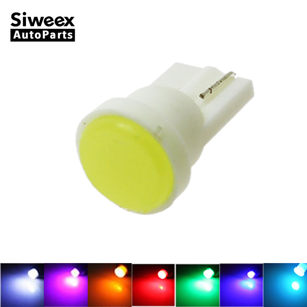 1X T10 Ceramic COB W5W 168  Car Interior 1 LED  Wedge Door Instrument Side Light Bulb Lamp Car Light Source DC12V