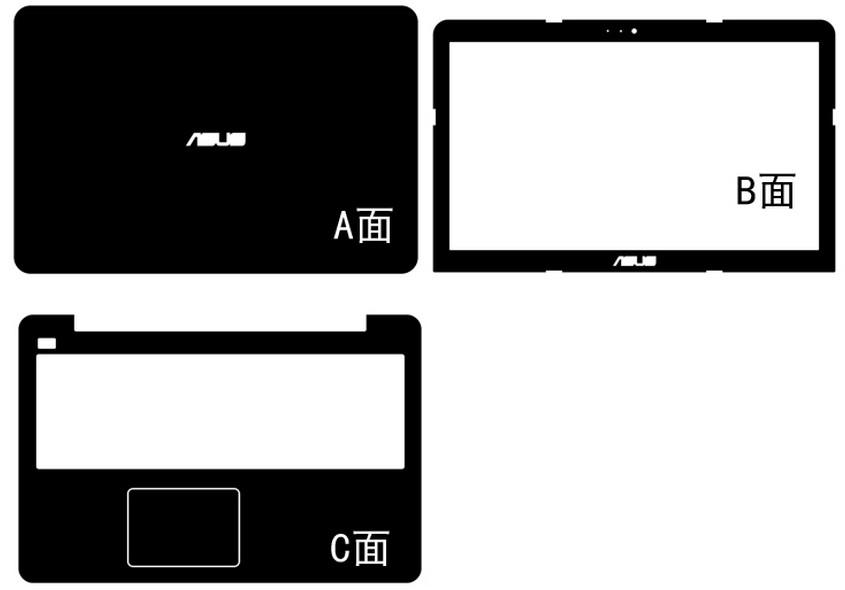 6e2575bc9ca9 US $15.0  Special Carbon fiber Vinyl Skin Stickers Cover For ASUS X555LI  X555LJ X555LN X555LA X555LB X555LD X555LF 15.6