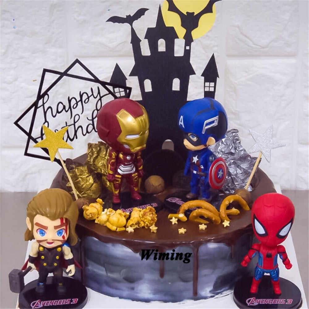 Admirable The Avengers Toys Cake Topper Ts For Birthday Cake Decorating Funny Birthday Cards Online Elaedamsfinfo