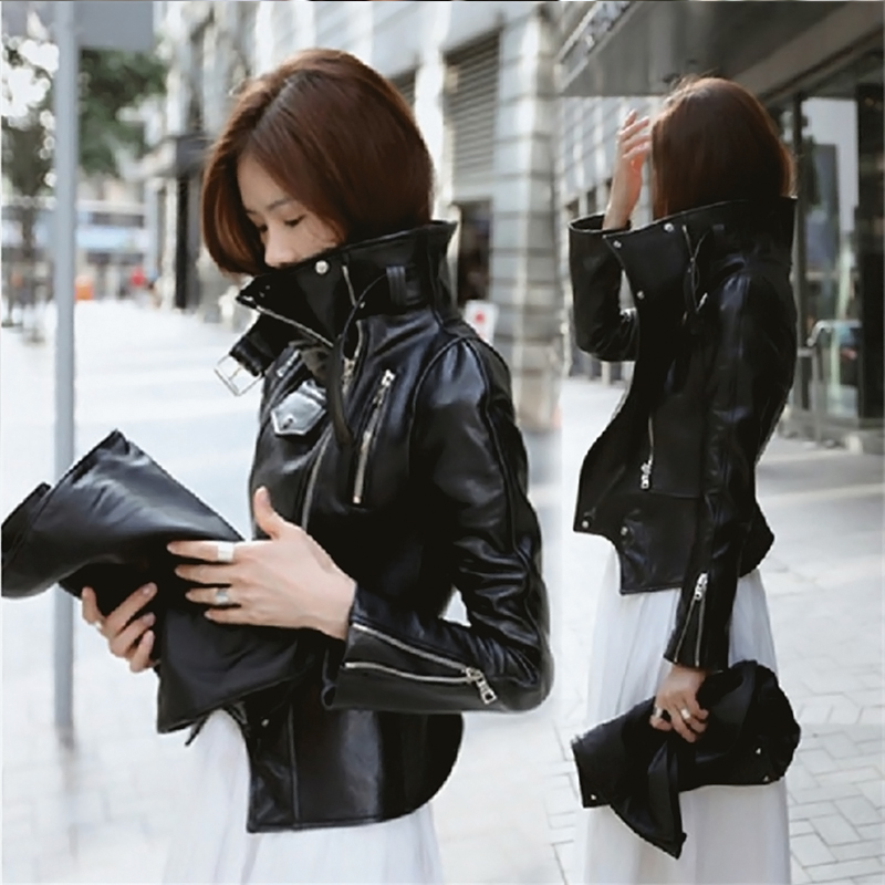 Autumn Winter PU   Leather   Coats Women Gothic Jackets Motorbike Steampunk Moto Streetwear Rock Style Metal Goth Jackets
