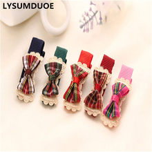LYSUMDUOE Fashion Cute Butterfly Bowknot Bow Snaps Striped Hair Clips Slides Girl Kids Clip Bows Gift