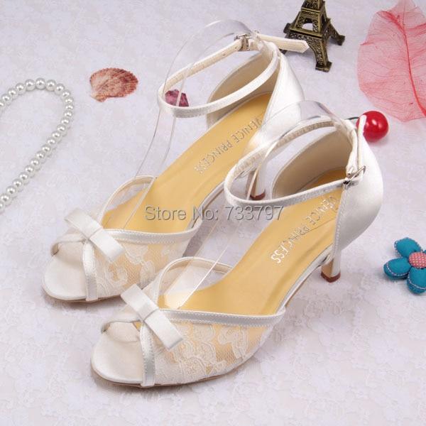 ФОТО Wedopus Customize Handmade Lace Latin Dance Bridal Sandals with Bow High-Heeled Shoes
