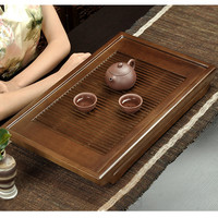 2016 High Quality Classical Style Tea Tray Chicken Wings Solid Wood Tea Tray Exquisite Bamboo Tea