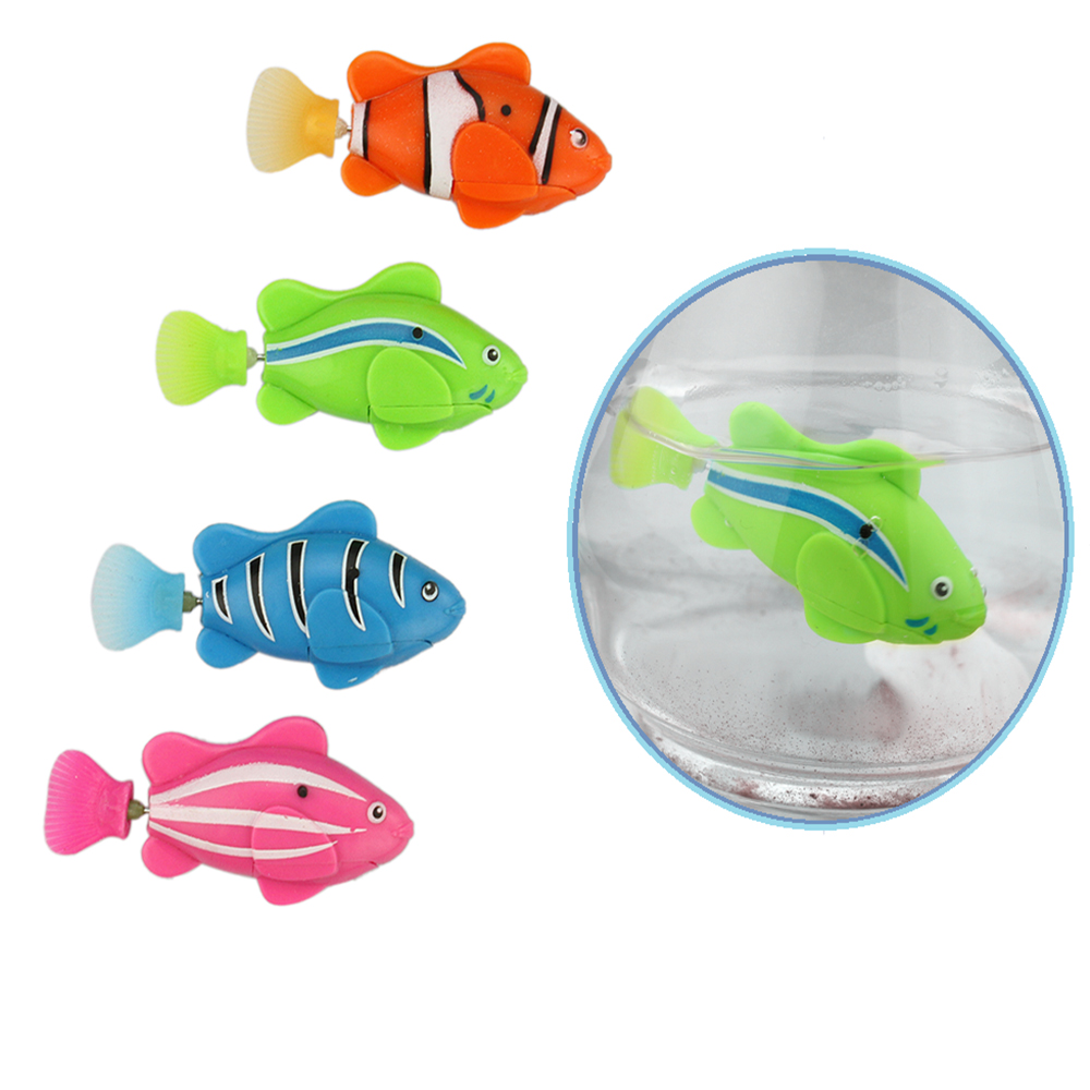Video demo child cat dog toy robot fish bionic electric for Are fish smart