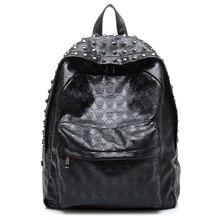 Mochila de uso diario TEXU, mochilas con estampado de calavera Punk, mochilas escolares universitarias
