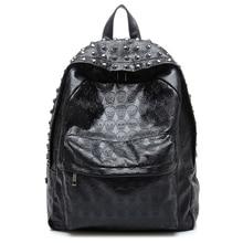TEXU günlük sırt çantası Punk kafatası baskı sırt çantaları koleji okul çantaları