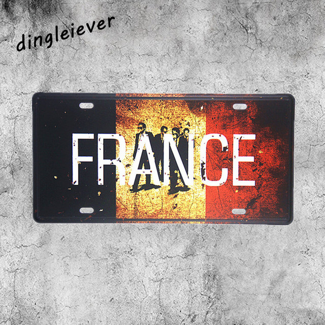 Us 6 29 10 Off France Map People License Plate Vintage Metal Sign Coffee Signs Kitchen Decor In Plaques Signs From Home Garden On