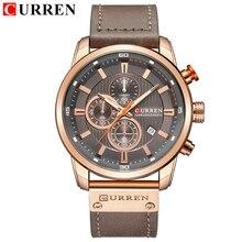 CURREN luksusowa na co dzień mężczyźni zegarki sportowe wojskowe chronograf męski zegarek data zegar kwarcowy zegarki na rękę Mannens Relojes Saat