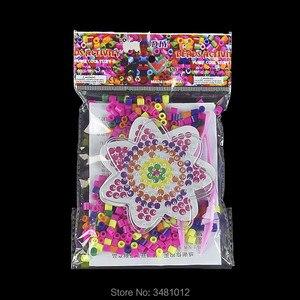 300 قطعة/الحقيبة pegboard لحبات 5 ملليمتر ديي البلاستيك كليب منتاش perler المجلس الملونة صورة الألغاز للأطفال اللعب الأطفال