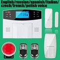 Беспроводной/проводной Телефон SIM GSM Домашняя Охранная GSM Сигнализация Английский Русский Spansih Чешский Голосовые Подсказки Сигнализация Датчик комплект