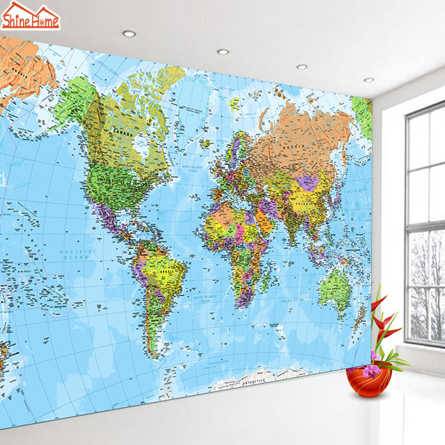 Modern World Map Wall Decal 6