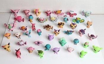 20 piezas calidad juguetes tienda de animales cabeza puede mover adornos Animal figura de acción más pequeños juguetes de la muñeca