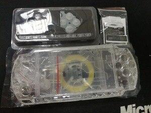 Image 2 - Şeffaf Şeffaf Renk PSP3000 PSP 1000 2000 3000 Kabuk Oyun Konsolu yedek tam konut kapak kılıf düğmeler kiti