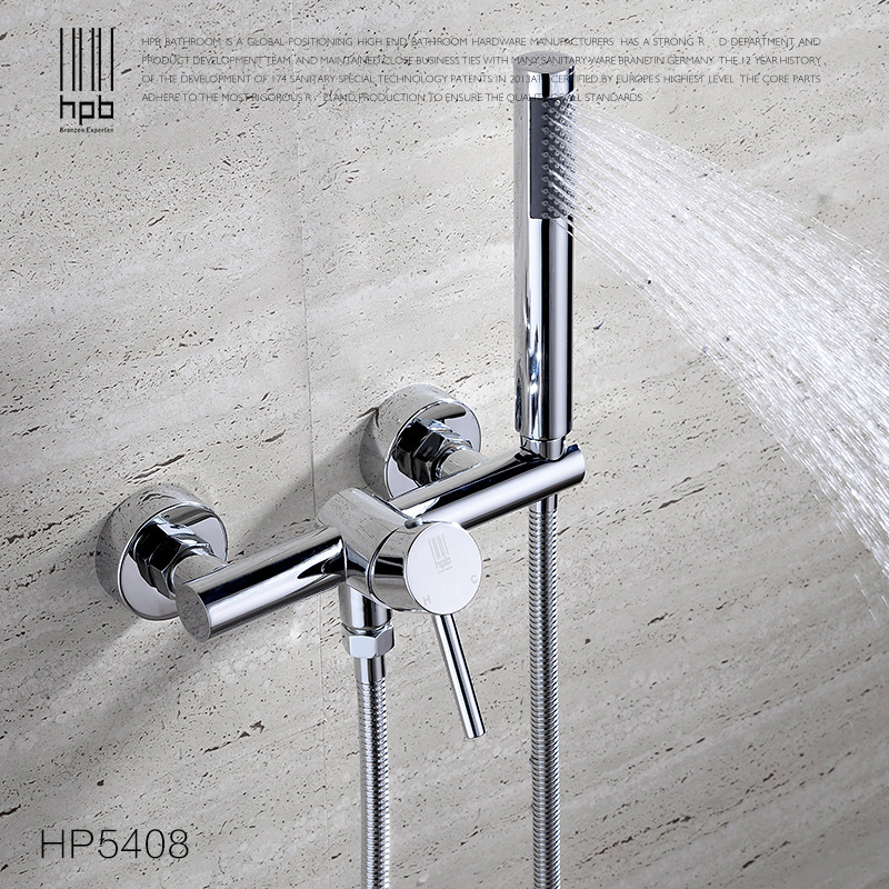 All-copper hot and cold water simple shower head set