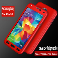 Luxury 360 Degree Protection Mobile Phone Case For Samsung Galaxy S5 Neo S5 I9600 Cover Case