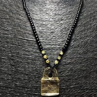 Wholesale Gold Hair Natural Crystal Pendants Fine Hand Carved Key Pendant Sweater Chain Necklace Lucky For