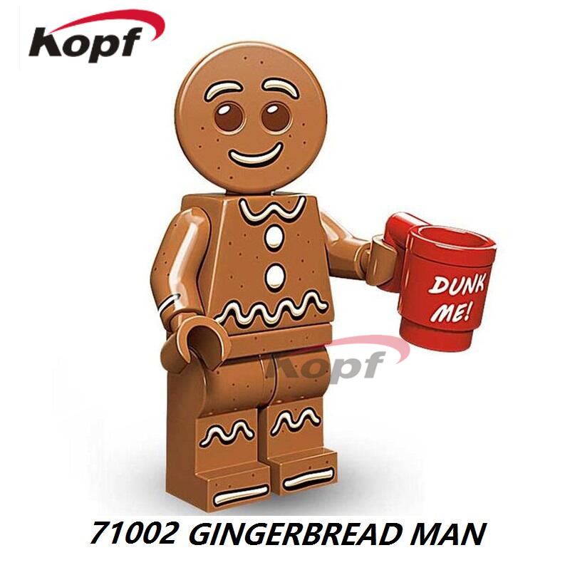 Single Sale Super Heroes Gingerbread Man Green Lantern Black Adam Firestorm DIY Bricks Building Blocks Children Gift Toys 71002 single sale aquaman reverse flash parademon green lantern booster gold power girl katana building blocks toys for children x0177