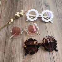 Vintage Kinder Sonnenbrille Kind Sonnenbrille Runde Blume Gafas Baby Kinder UV400 Sport Sonnenbrille Mädchen Jungen Oculos De Sol