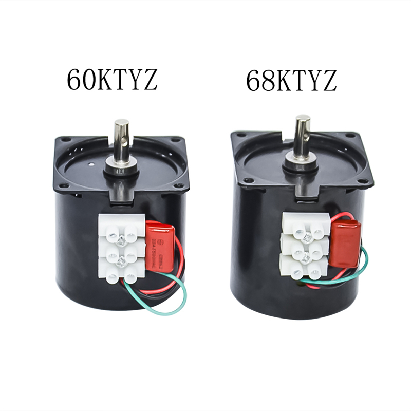 <font><b>220V</b></font> AC Synchronous Gear <font><b>Motor</b></font> 60 68KTYZ CW/CCW <font><b>10rpm</b></font> 50HZ/60HZ High Quality AC <font><b>Motor</b></font> With 1.2 2.5 5 10 15 20 30 50 60 80 110rpm image