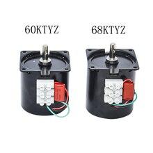 220V AC Synchronous Gear Motor 60 68KTYZ CW/CCW 10rpm 50HZ/60HZ High Quality With 1.2 2.5 5 10 15 20 30 50 80 110rpm
