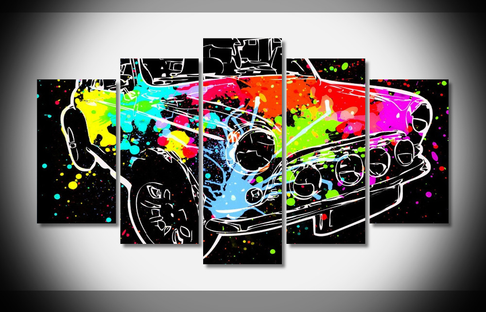 8353 paint color auto car power engine wheel poster Framed Gallery wrap art print home wall decor wall picture Already to hung
