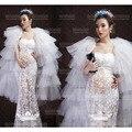 2016 Novo vestido De renda de Maternidade Sessão de fotos Vestido de Renda Perspectiva vestido de renda Gravidez Grávidas Fotografia Adereços Extravagantes JLk-1317