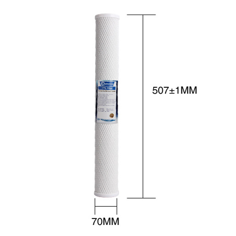 3 Levels 20 inch Water Filter Sets 1 Micron PPF/Sediment+UDF/GAC Granular Activated Carbon+Carbon Block CTO Osmosis Purifier