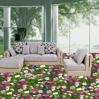 Free Shipping Grass Floor Custom 3d Floor Mural Anti Skidding Thickened Living Room Bathroom Bedroom Waterproof
