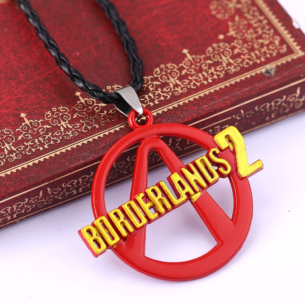 Borderlands 2 Necklace Game Logo Collier Men Women Colorful Red Pendant Choker Cosplay Accessories Gifts image