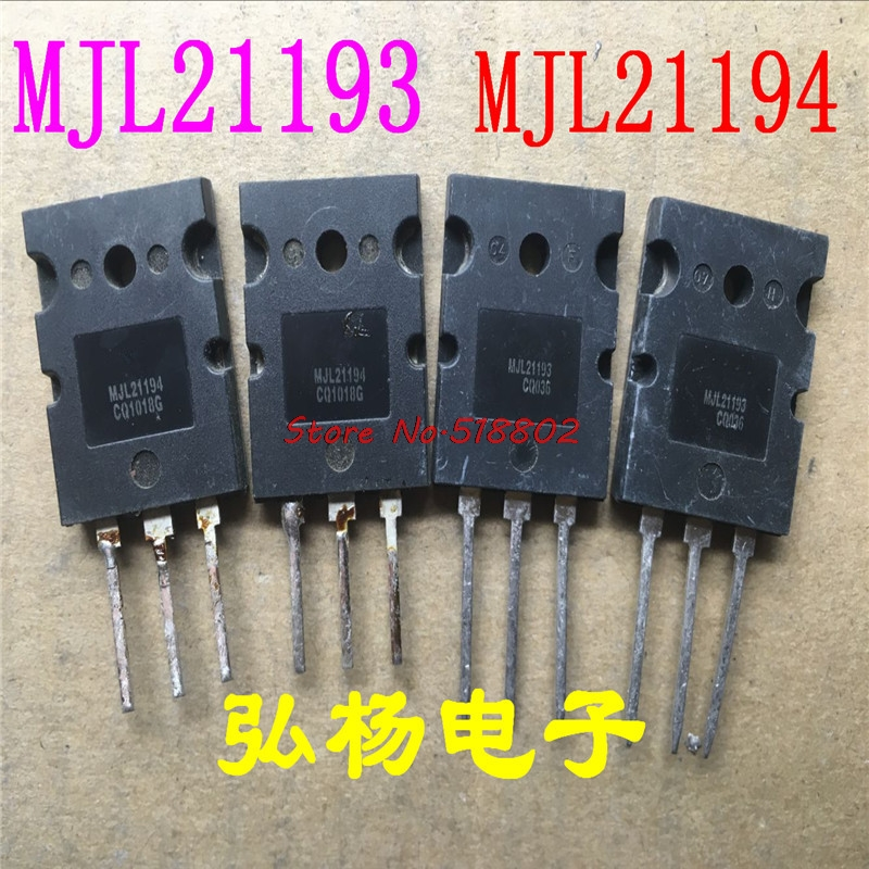 10pcs/lot MJL21193 MJL21194 (5 PCS MJL21193 + 5 Pcs MJL21194) TO-3PL In Stock
