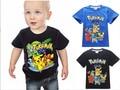 2016 Camisa Nova T Meninos Go Crianças Dos Desenhos Animados Pikachu Pokemon Camisas de T Para Meninos Meninas Camisetas de Algodão Tops roupa Dos Miúdos 3-10Y
