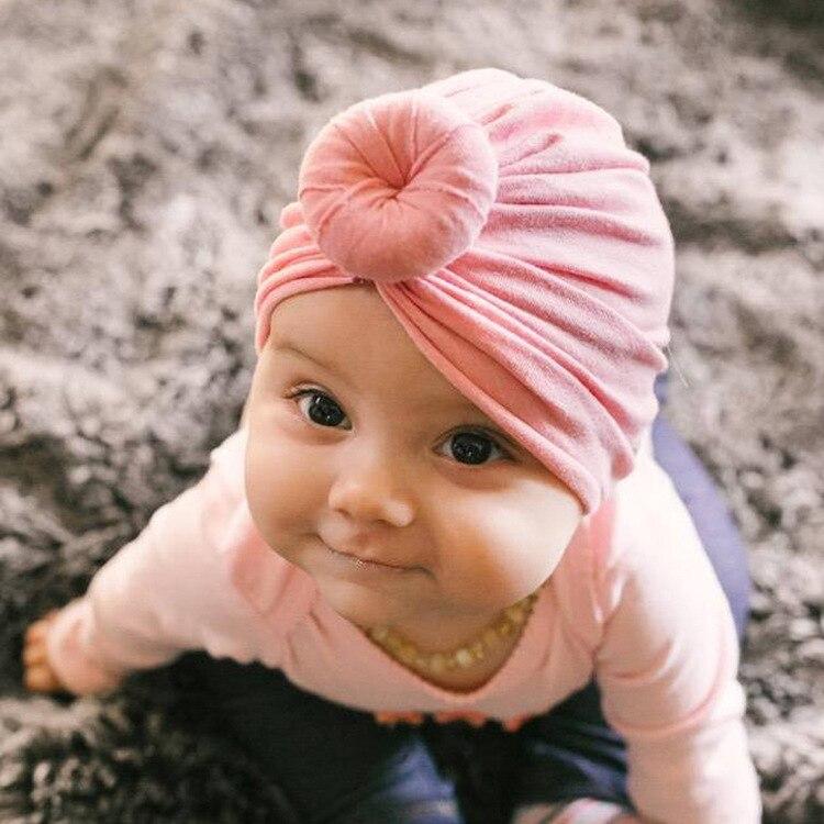 Baby Girls Cotton Blend Handmade Hat Women Caps Baby Girls
