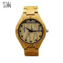 TJW2017 hot sale wooden watch men fashion natural wood quartz watch casual quartz watch Unisex Christmas Gifts freeshipping