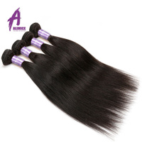 Alimice Hair Indian Straight Hair 8 26 Inch Non Remy Hair Extensions 100 Human Hair Weave