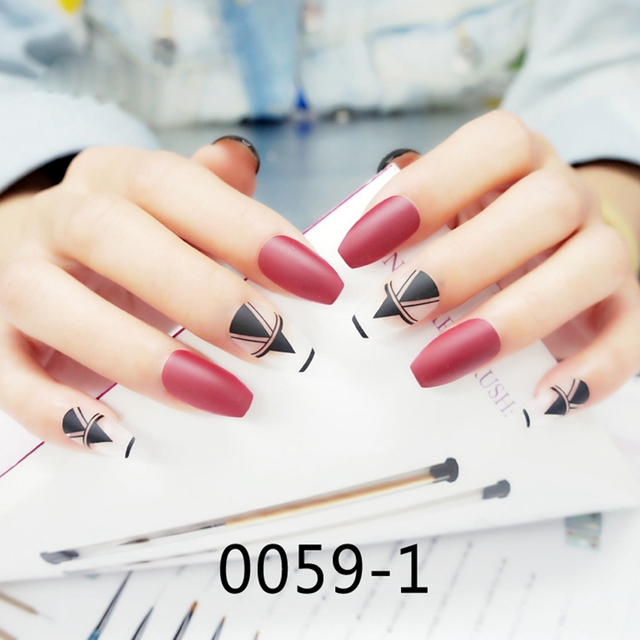 Cute Acrylic Nails Coffin Shape