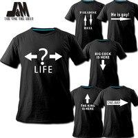Novelty T shirts new fasion men and women clothing original design life direction customized shirt diy noctilucent tshirt