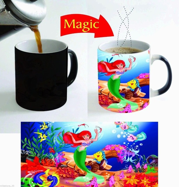 Travel Us14 1ariel Ceramic Home Reactive In Tea Mugs Heat The Sensitive Decal Coffee Magic Fromamp; Mug Mermaid Mugen I7by6vYgf