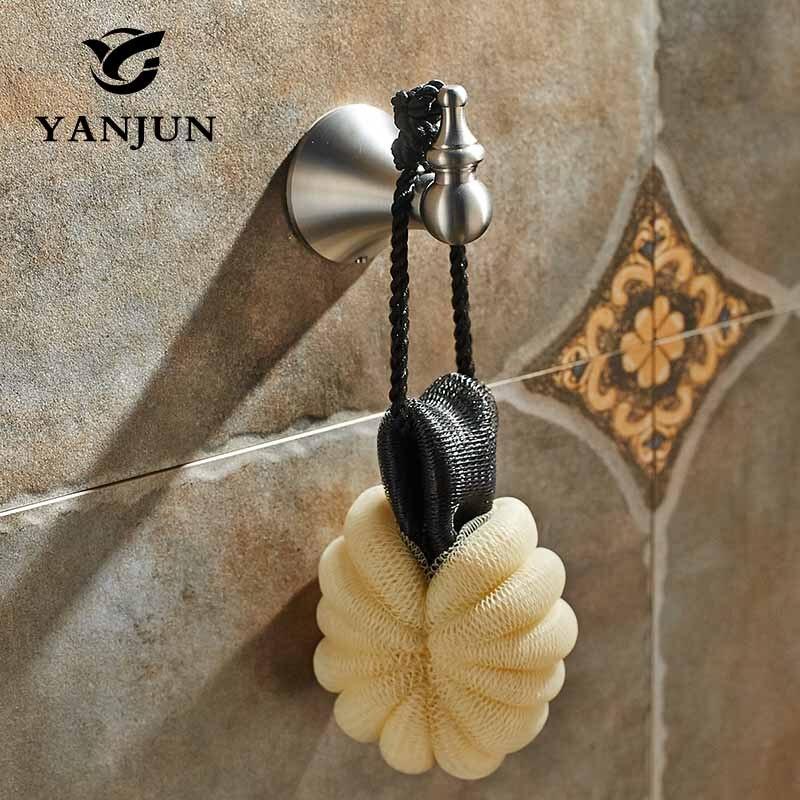 Yanjun Modern 304 Stainless Steel Brushed Hat Hook Bathrobe Clothes Hanger Bathroom Coat Rack Bathroom Accessories YJ-7450 ydl jd 937 stainless steel bathroom clothes hook silver page 8