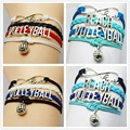 Infinity Love Volleyball Bracelet Trendy Sports Bracelet Personalized Vintage Silver Metal Volleyball Sports Jewelry Gift Custom